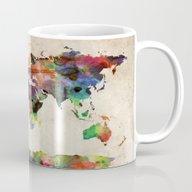 World Map Urban Watercol… Mug