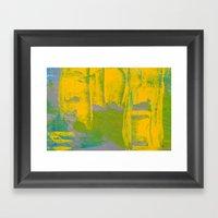 Yellow Ladders Framed Art Print