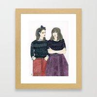 Sessun Girls Framed Art Print