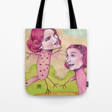 UP AND DOWN FRIENDS Tote Bag