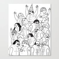 Sauna Club Canvas Print