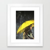 All Upon The Downtown Tr… Framed Art Print