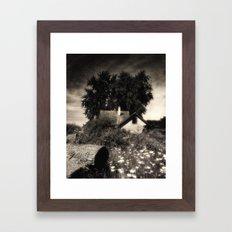 Moody abandon farm Framed Art Print