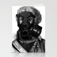 Gas mask fetish 1 Stationery Cards
