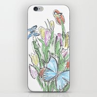 Watercolour, Flowers And… iPhone & iPod Skin