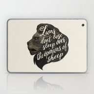 Laptop & iPad Skin featuring Lions Don't Lose Sleep O… by Laura Graves