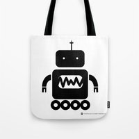 ROBOT Number Three Tote Bag