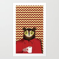 (vectored) The Owls Are … Art Print