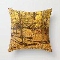 Sunset Forest Throw Pillow