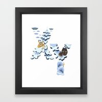 X & Y Framed Art Print