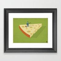 Slice Fishing Framed Art Print