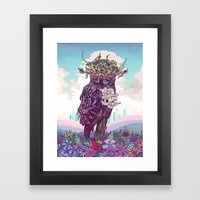 Journeying Spirit (Owl) Framed Art Print
