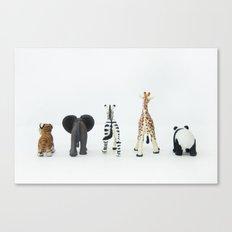 ANIMALS BACKS Canvas Print