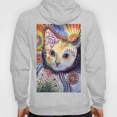 Lucy ... Abstract cat art Hoody
