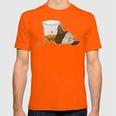 Thirsty Grouse - Colored… Mens Fitted Tee Orange SMALL