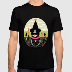 Mimu & The Fireboy Black SMALL Mens Fitted Tee