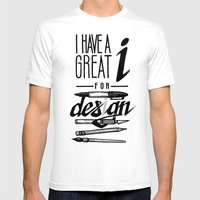 Clever Designer Mens Fitted Tee White SMALL