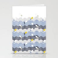 retro flower field 2 Stationery Cards