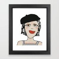 Digital Paper Doll 01 Framed Art Print