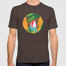 Sailing To Delos Revisited Mens Fitted Tee Brown SMALL
