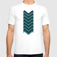 3D In Ocean Tones Mens Fitted Tee White SMALL