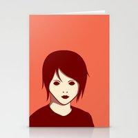 Emo Boy Stationery Cards