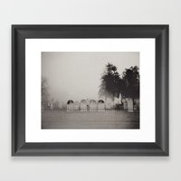 Old Cemetery Framed Art Print