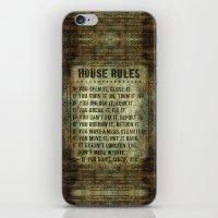 House Rules - Read Em An… iPhone & iPod Skin