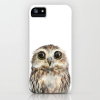 iPhone 5s & iPhone 5 Cases featuring Little Owl by Amy Hamilton