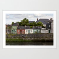 Irish Cottages Art Print
