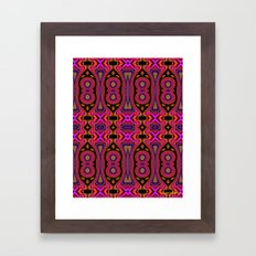 Patterned Abstract Love  Framed Art Print