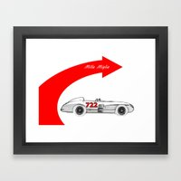 RennSport Speed Series: Mille Miglia Framed Art Print
