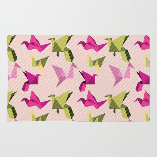 pink paper cranes Area & Throw Rug