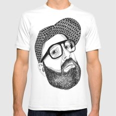 FULL MANO White SMALL Mens Fitted Tee