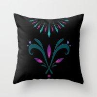 Elsa Embroidery Throw Pillow