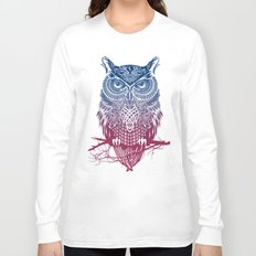 Evening Warrior Owl Long Sleeve T-shirt