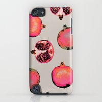 iPod Touch Cases featuring Pomegranate Pattern by Georgiana Paraschiv