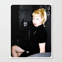 Canvas Print featuring Girl in Black by Vorona Photography