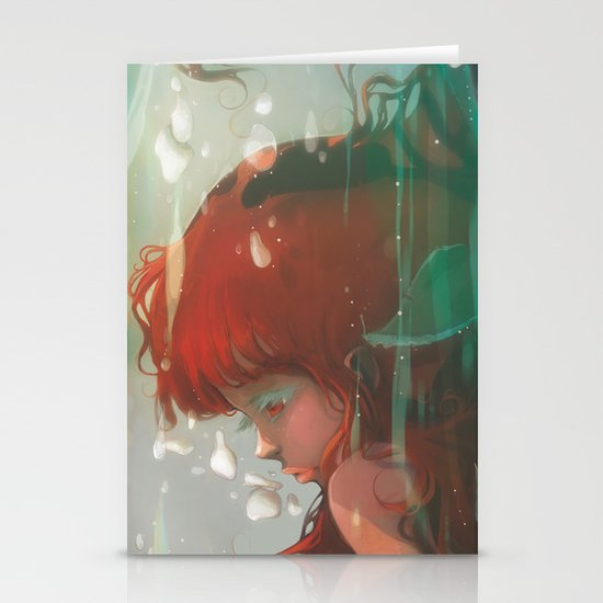 Le lac Stationery Card