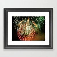 Firelight Framed Art Print