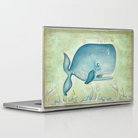 whale Laptop & iPad Skins featuring WHALE by Patrizia Ambrosini