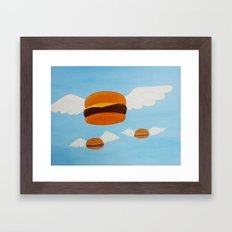 Bob's Flying Burgers Framed Art Print