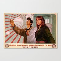Doctor Who Propaganda Poster Canvas Print