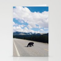 Black Bear Crossing Stationery Cards