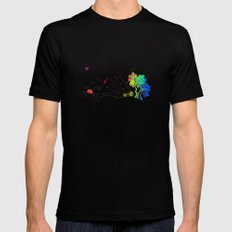 Sunny Scene Mens Fitted Tee Black SMALL