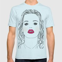 Mademoiselle Mens Fitted Tee Light Blue SMALL