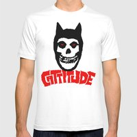 Cattitude Mens Fitted Tee White SMALL
