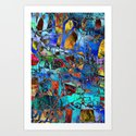Net for Funny Fishes Art Print