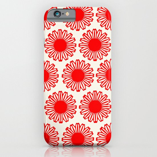 Vintage Flower-Red iPhone & iPod Case