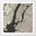 New York - Ink lines Art Print